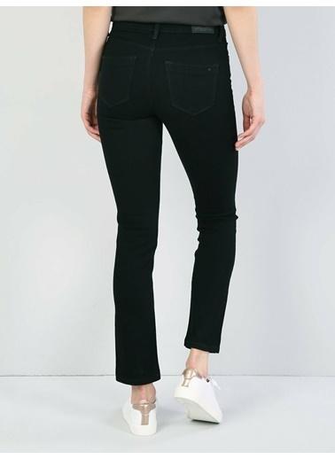 Colin's 703 Carla Orta Bel Düz Paça Slim Fit Siyah Kadın Jean Pantolon Lacivert